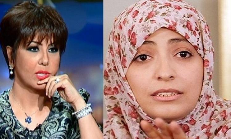 بالصور .. توكل كرمان تتطاول على السيسى .. وفجر السعيد ترد عليها !!