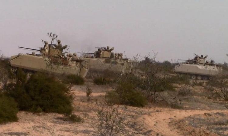 """بالفيديو .. مقتل 40 تكفيرياً بشمال سيناء فى إطار عملية """"حق الشهيد"""""""