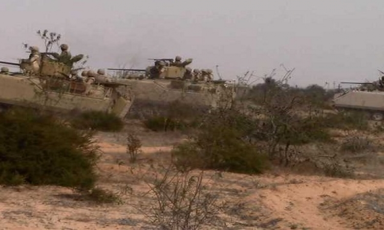 القوات المسلحة تقتل 14 إرهابياً وتدمر 5 ملاجئ للتكفيريين