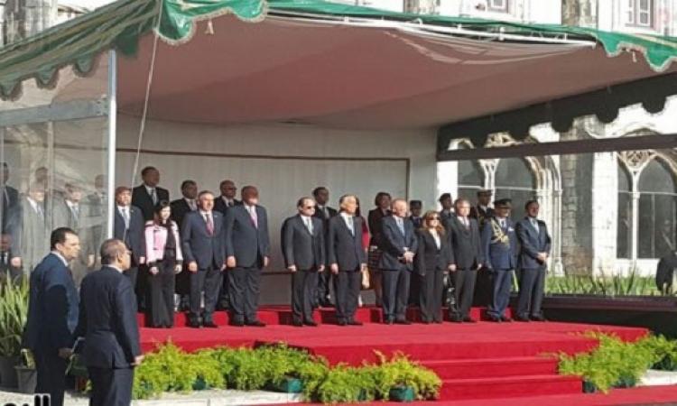 مراسم استقبال رسمية للرئيس السيسى فى لشبونة