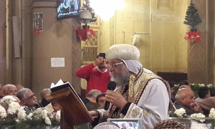 بالصور.. البابا تواضروس يترأس قداس عيد الغطاس