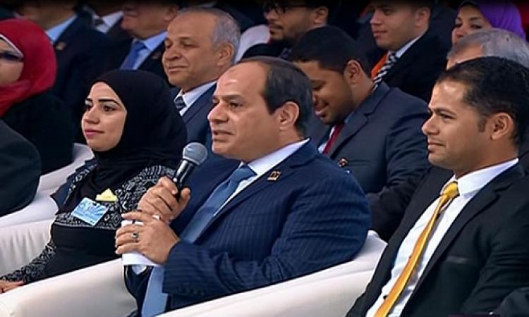 السيسى فى مؤتمر الشباب : الإرهاب يريد تدميرنا .. ونصر الله قريب