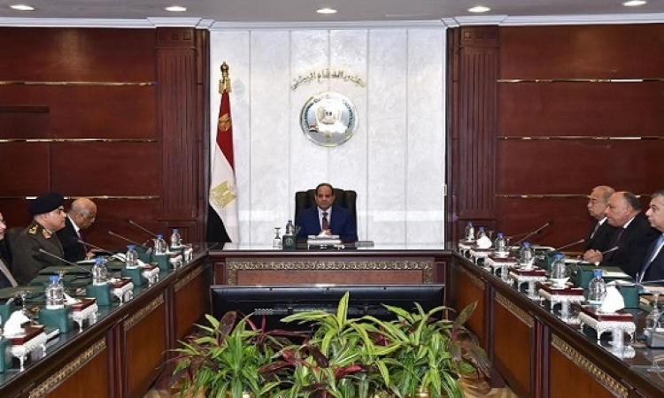 السيسى يستعرض المستجدات الأمنية مع مجلس الدفاع الوطنى