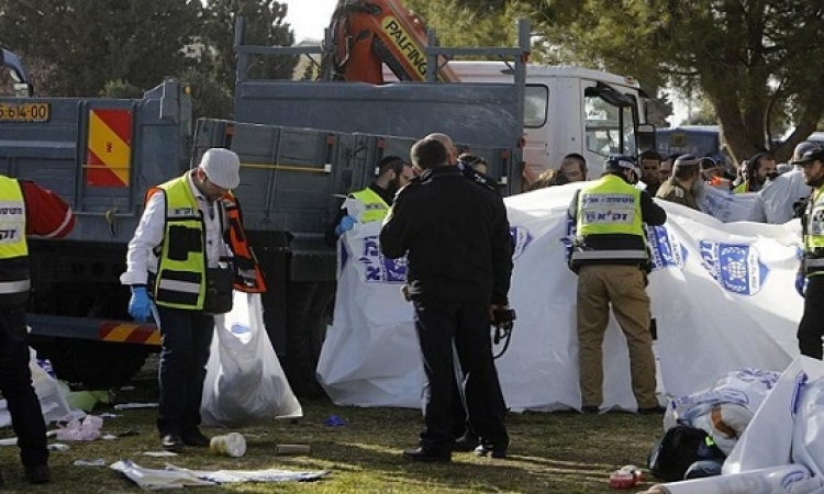 مقتل 4 جنود إسرائيليين وإصابة 15 فى عملية دهس فى القدس