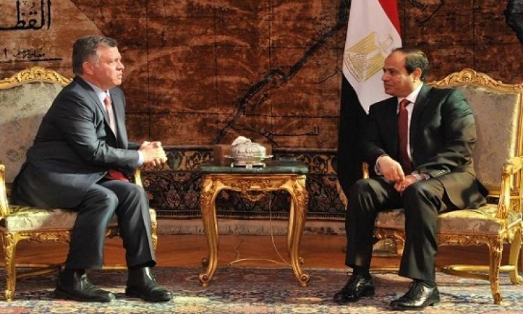 القمة المصرية – الأردنية تؤكد على حل الدولتين وعلى ضرورة المواجهة العالمية للإرهاب