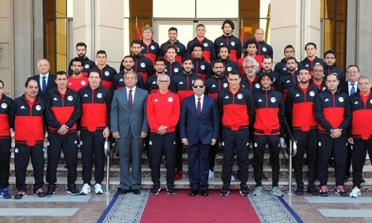 الرئيس السيسى يستقبل اليوم المنتخب الوطنى لكرة القدم لتهنئتهم بالصعود لكأس العالم