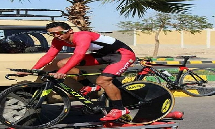 وصول جسد إسلام ناصر لاعب منتخب الدراجات إلى مصر