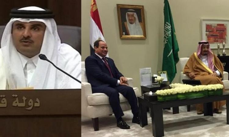 مع كلمة تميم .. السيسى وسلمان يغادران القمة العربية ويعقدان مباحثات مغلقة