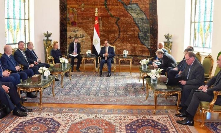 بالصور .. الرئيس السيسى يبحث مع رئيسة المجلس الفيدرالى الروسى الاوضاع الاقليمية والتعاون الثنائى
