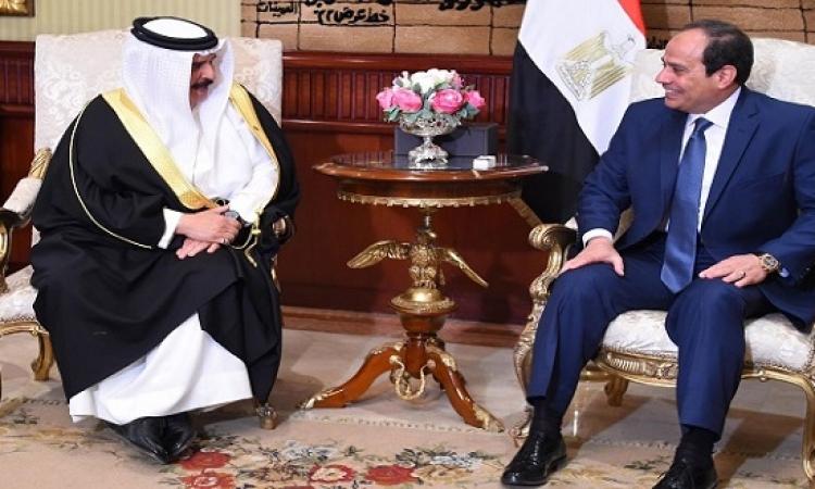 السيسى لملك البحرين: أمن الخليج العربى جزء من الأمن المصرى