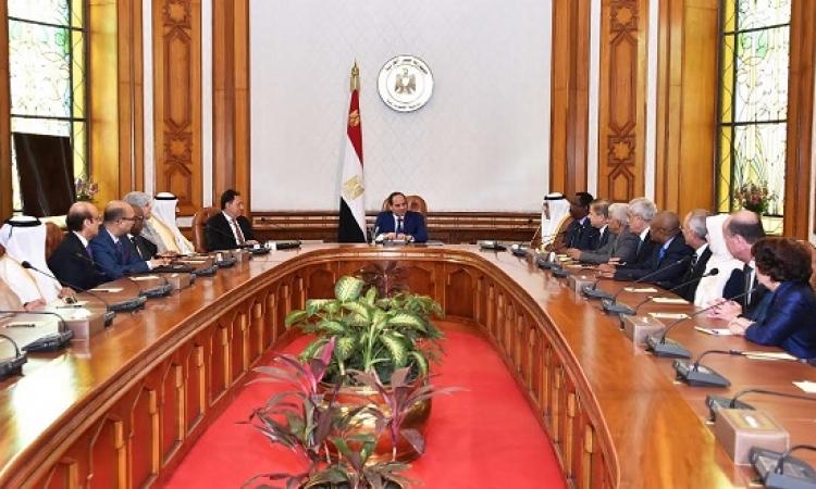 السيسى لوزراء الصحة العرب : مصر لا تتدخل فى الشئون اشقائها