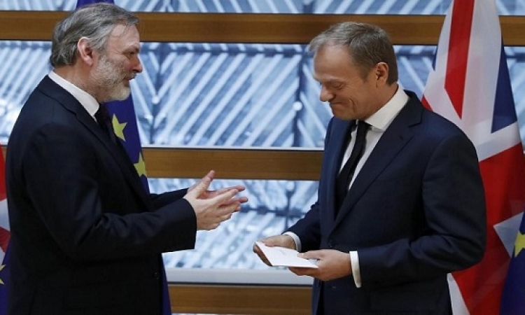 بريطانيا تسلم رئيس المجلس الاوروبى رسالة الخروج من الاتحاد