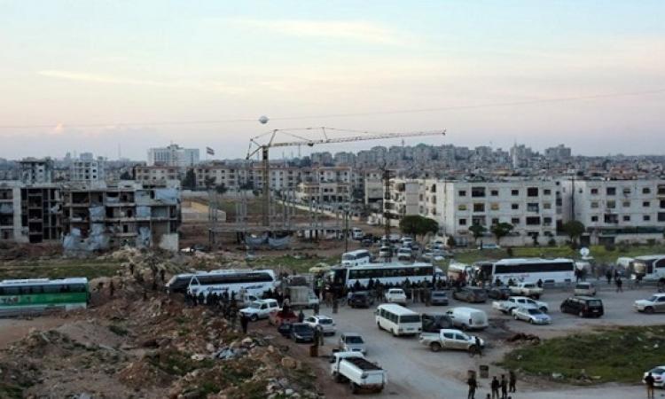 استئناف عمليات إجلاء سكان المدن السورية الأربع