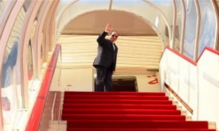 السيسى يصل قاعدة أندروز الأمريكية فى زيارة الولايات المتحدة