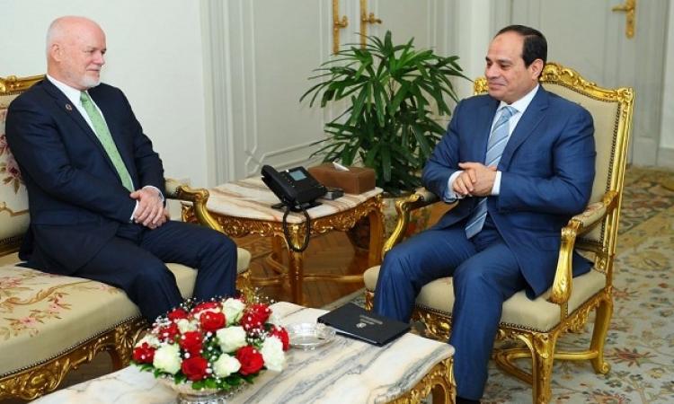 السيسى يؤكد لرئيس الجمعية العامة للأمم المتحدة حرص مصر على السلم العالمى
