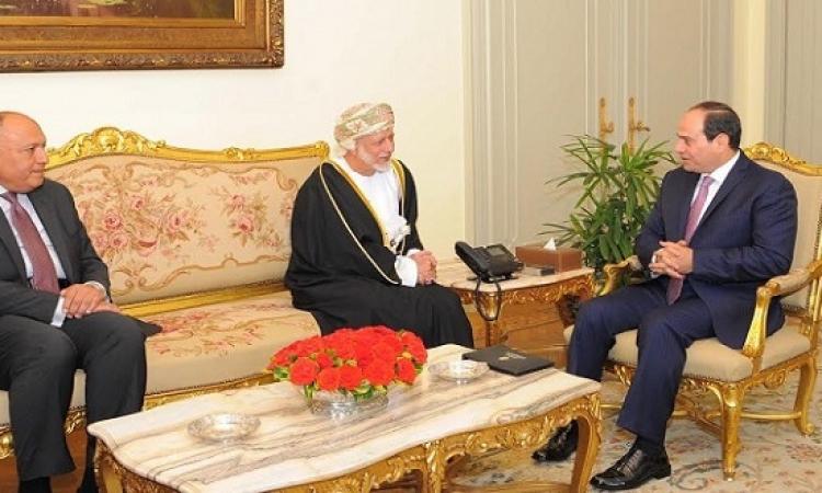 السيسى يؤكد حرص مصر على تطوير التعاون الثنائى مع سلطنة عمان