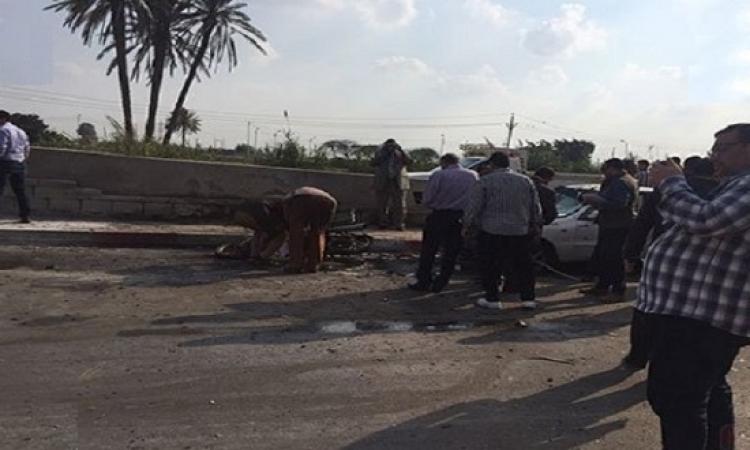 الصحة : 16 مصابا في إنفجار عبوة ناسفة أمام مركز تدريب الشرطة بالغربية