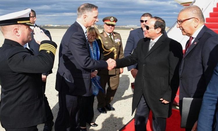 بالصور .. الرئيس السيسى يصل واشنطن فى مستهل زيارة للولايات المتحدة الأمريكية