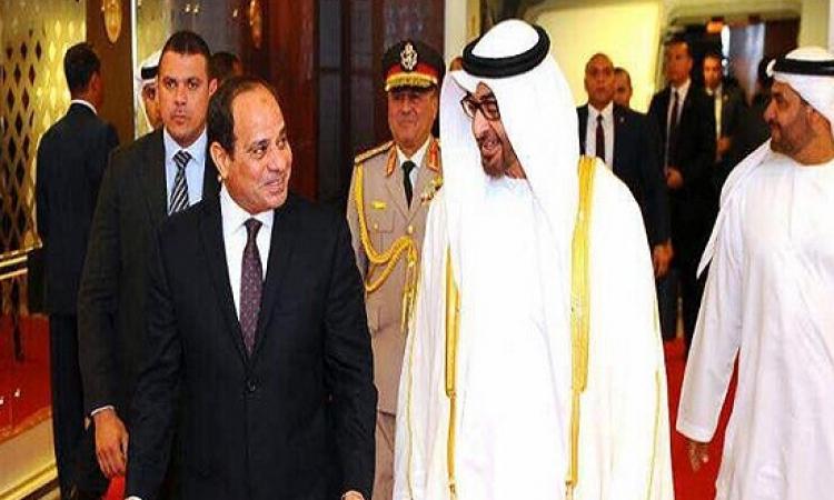 """""""بن زايد"""": استقرار مصر استقرار للمنطقة وموقفنا ثابت من دعم القاهرة"""