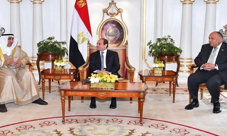 الرئيس السيسى يبحث آفاق التعاون المشترك مع مدير عام الصندوق الكويتى للتنمية
