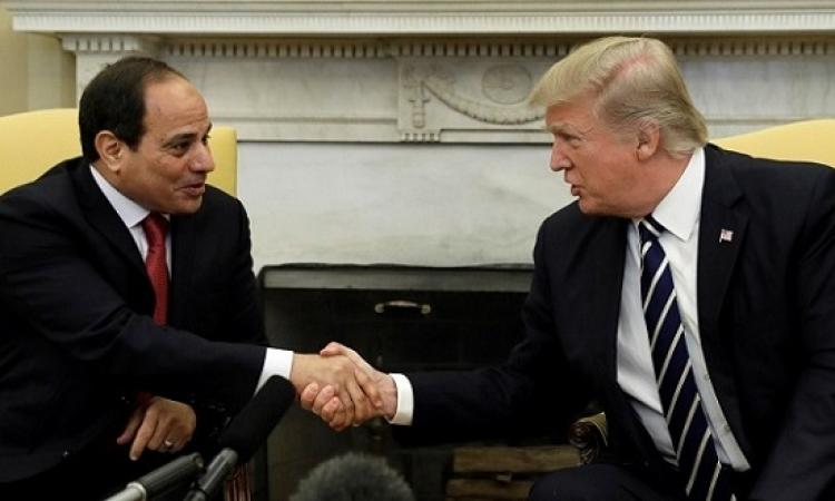 السيسي وترامب يبحثان هاتفياً تعزيز العلاقات الثنائية والتطورات بالشرق الأوسط