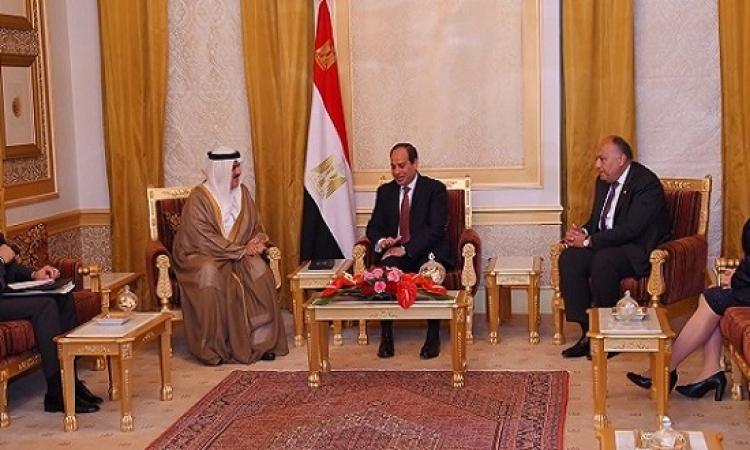 الرئيس السيسى يواصل لقاءاته فى البحرين