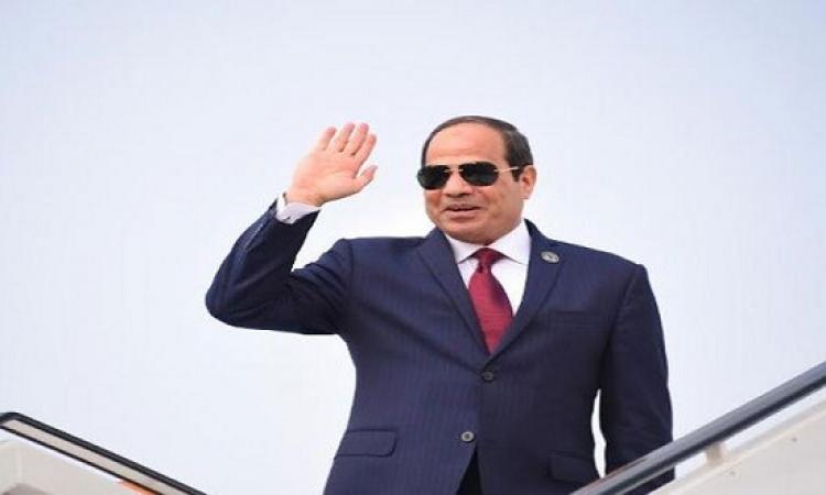 الرئيس عبدالفتاح السيسى يصل الإمارات