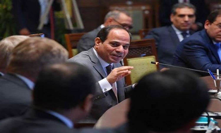 بالصور.. الرئيس السيسى يفتتح المرحلة الأولى لإنتاج غاز غرب دلتا النيل