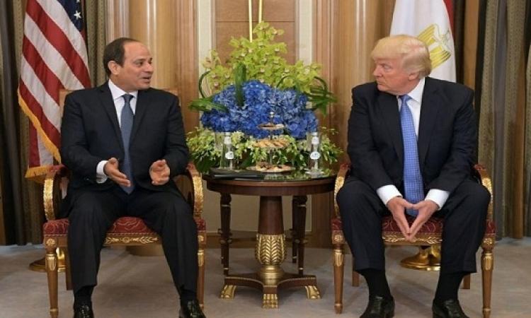 ترامب يثنى على السيسى ويبدى رغبته فى زيارة مصر