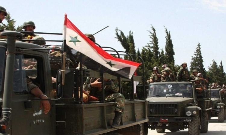 الجيش السورى ينفذ عمليات مكثفة ضد جبهة النصرة فى قرية مغر المير بريف دمشق