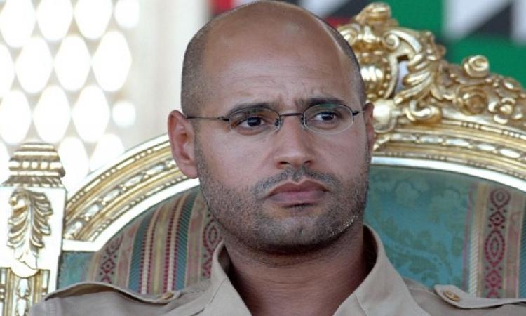 سيف الإسلام القذافى يصل أوبارى بعد اطلاق سراحه