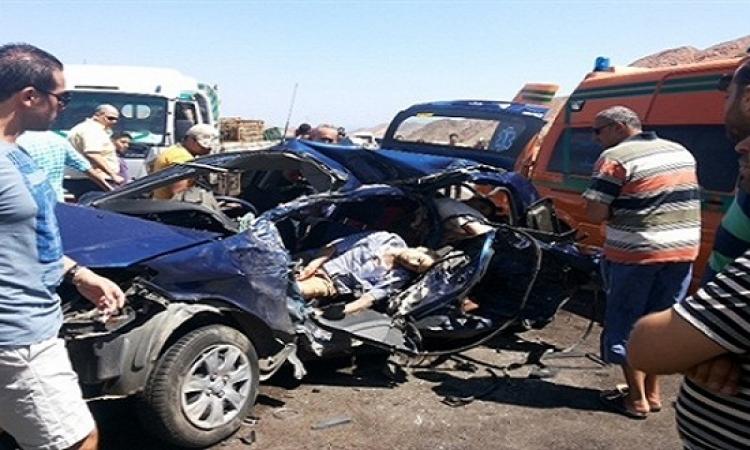 حادث تصادم مروع برأس سدر يسفر عن مصرع شخص وإصابة 27