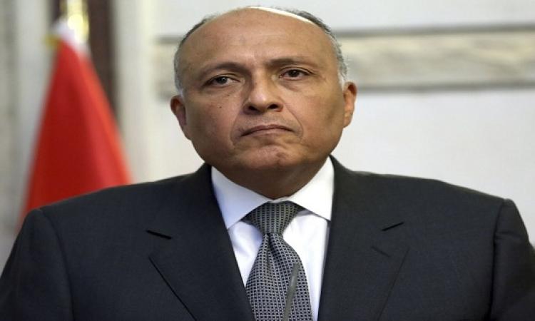 """""""شكرى"""" يجتمع مع وزراء الخارجية العرب بمنتدى الاتحاد من أجل المتوسط"""