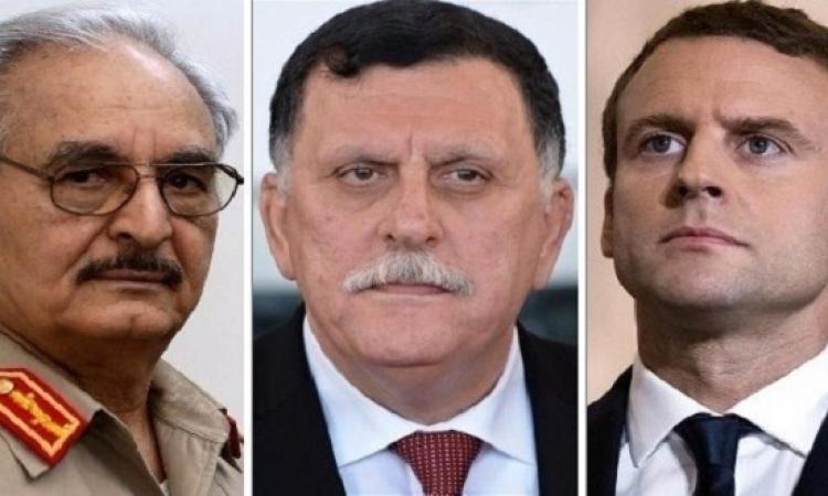 ماكرون يجتمع بحفرت والسراج في باريس لبحث الازمة الليبية