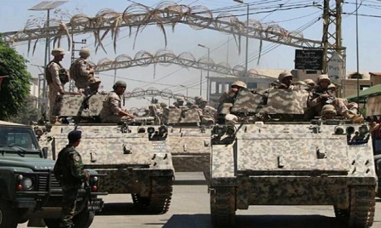 الجيش اللبنانى يقصف مواقع داعش فى بعلبك