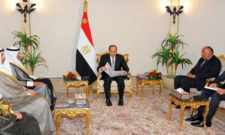 الرئيس يتسلم رسالة خطية من أمير الكويت حول قطر