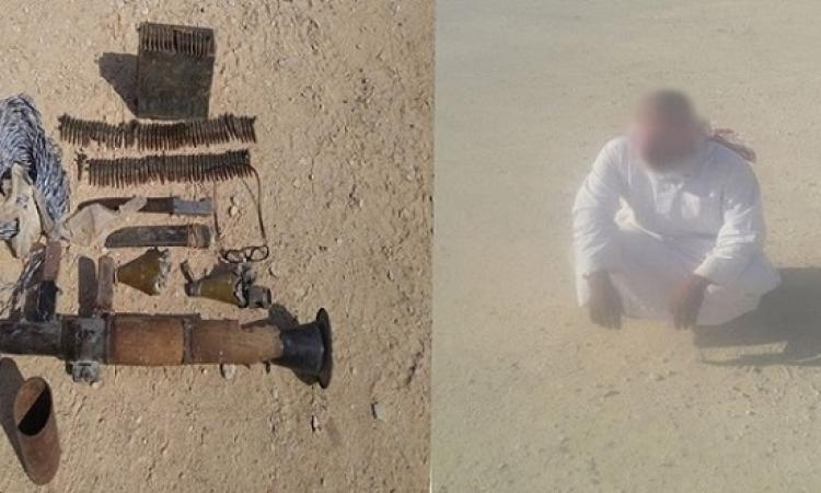 الجيش يقبض على تكفيرى ويضبط أسلحة وذخيرة بوسط سيناء