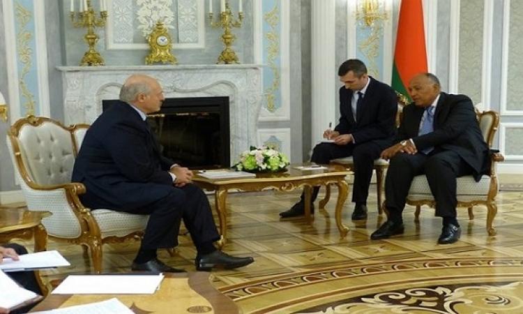 وزير الخارجية يسلم رسالة من الرئيس السيسى إلى رئيس بيلاروسيا