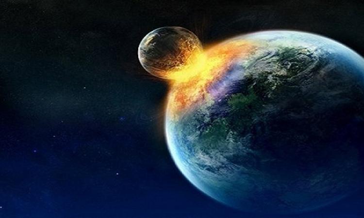 الأصطدام بكوكب غامض يهدد الحياة على كوكب الارض