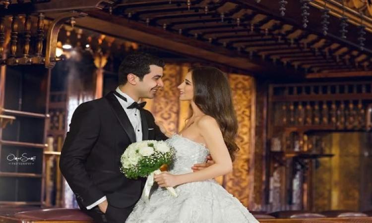 بالصور .. فوتوسيشن حفل زفاف محمد أنور على نوران التركى