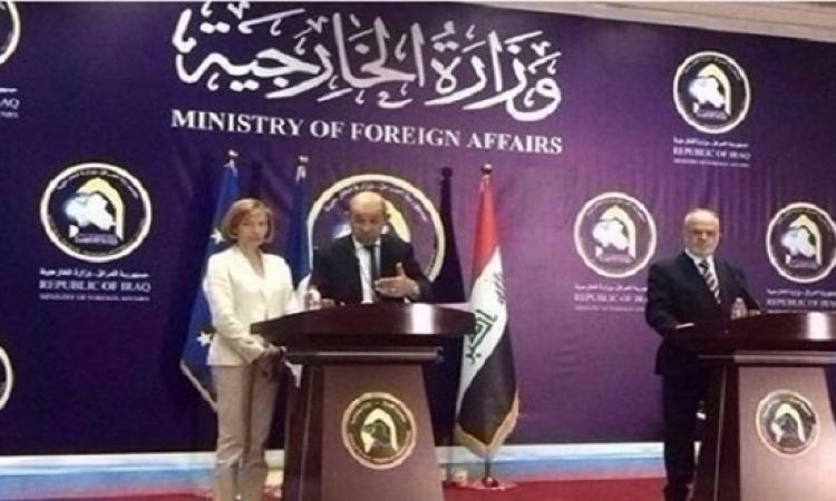 لودريان فى بغداد : لا شرط مسبقا لرحيل الأسد وأولويتنا محاربة داعش