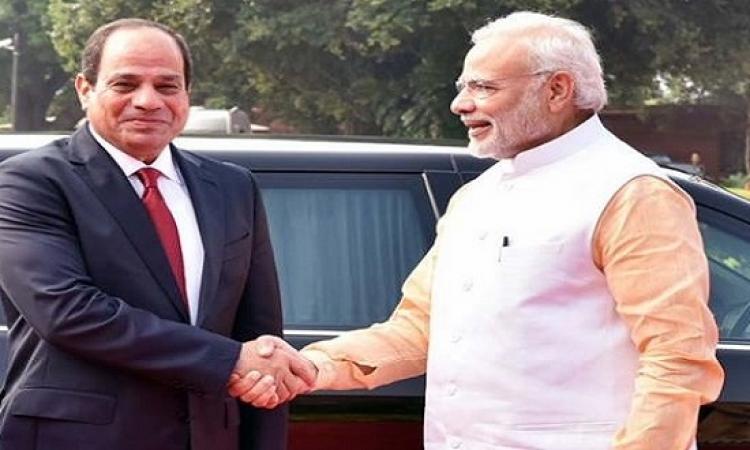 السيسى يبحث تعزيز التعاون الثنائى مع رئيس وزراء الهند