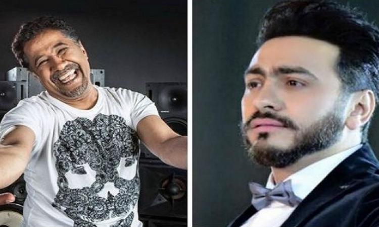 بالصور.. الشاب خالد مع تامر حسنى.. معلقًا: ترقبوا ضربة جديدة