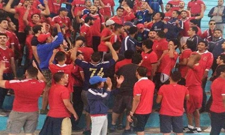 جماهير الأهلى بتونس تؤازر اللاعبين فى مرانهم الأخير قبل موقعة رادس