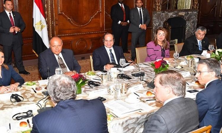 الرئيس السيسى يحضر عشاء عمل لمجلس الأعمال للتفاهم الدولى