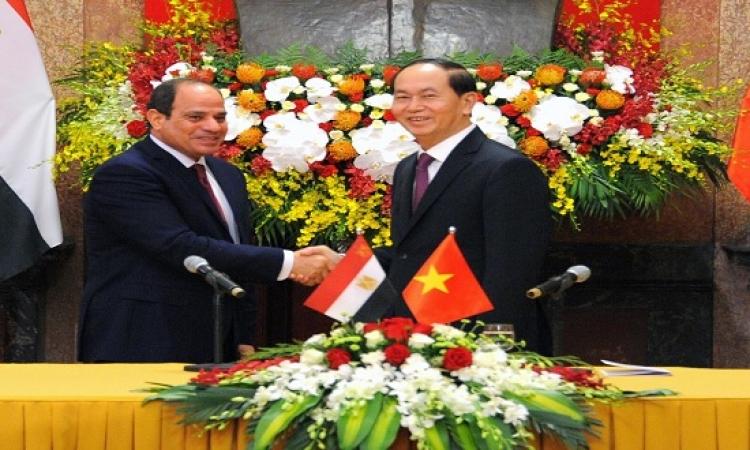 السيسى يدعو رجال الصناعة الفيتناميين إلى الاستثمار فى مصر