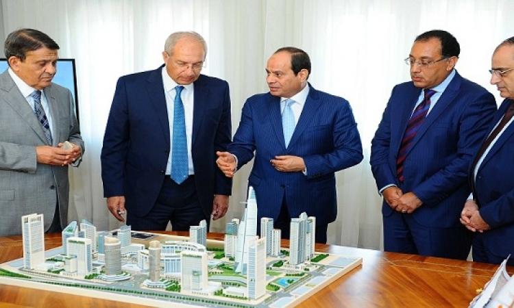 السيسى يجتمع مع رئيس مجلس إدارة شركة العاصمة الإدارية الجديدة