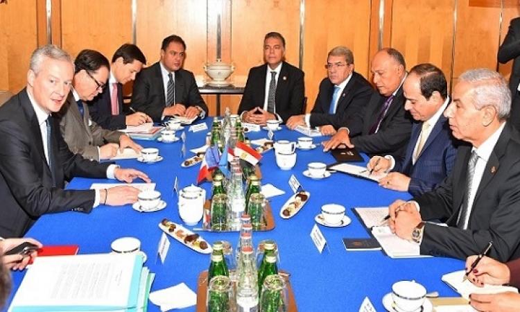 السيسى يجتمع بوزير المالية والاقتصاد الفرنسى يلتقى رؤساء كبرى الشركات الفرنسية