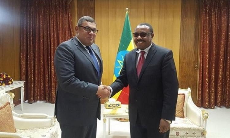 رئيس وزراء إثيوبيا يؤكد للسفير المصرى تمسك بلاده بالعلاقات الأخوية مع مصر