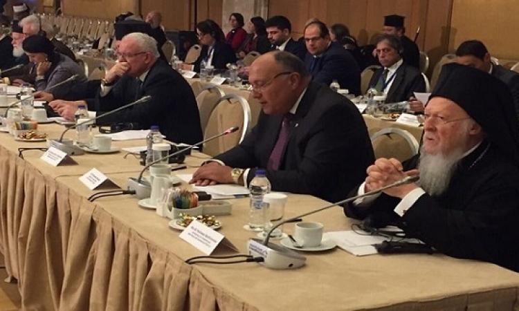 شكرى فى آثينا : حان الوقت لتنبى المجتمع الدولى موقفاً واضحاً ضد الإرهاب